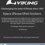 """Viking Fottøy med """"levende"""" annonse (Augmented reality - AR) - Synd at appen ikke er godkjent i AppStore!"""