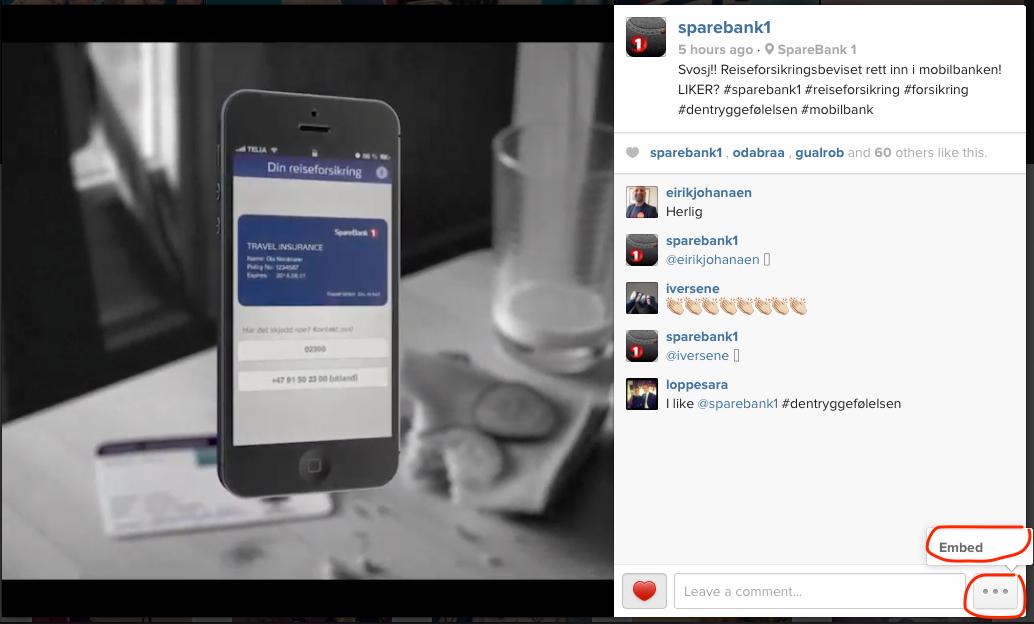 embedding instagram on your blog