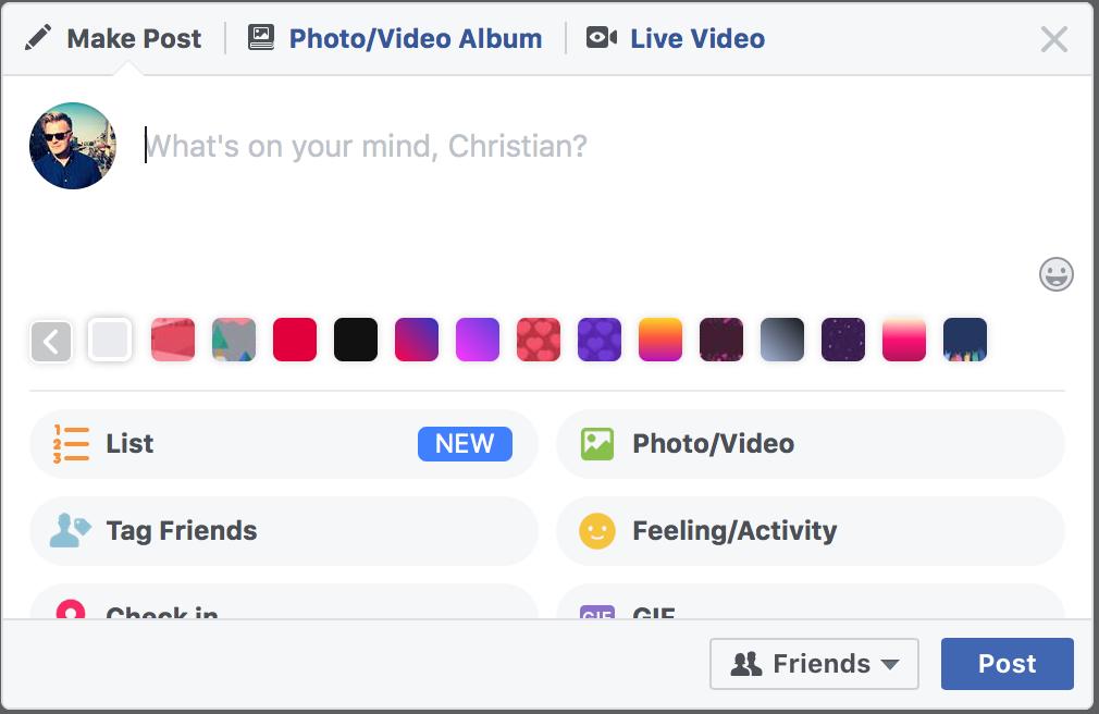 Facebook med lister
